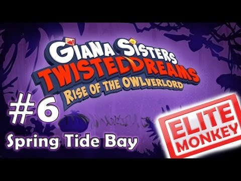 Giana Sisters: Rise of the Owlverlord - Walkthrough Part 6 - Spring Tide Bay [HD PC]