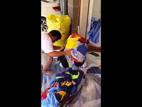 เจ๊ฝนตลาดโรงเกลือเปิดกระสอบเสื้อยืดสีอเมริกาเบอร์1