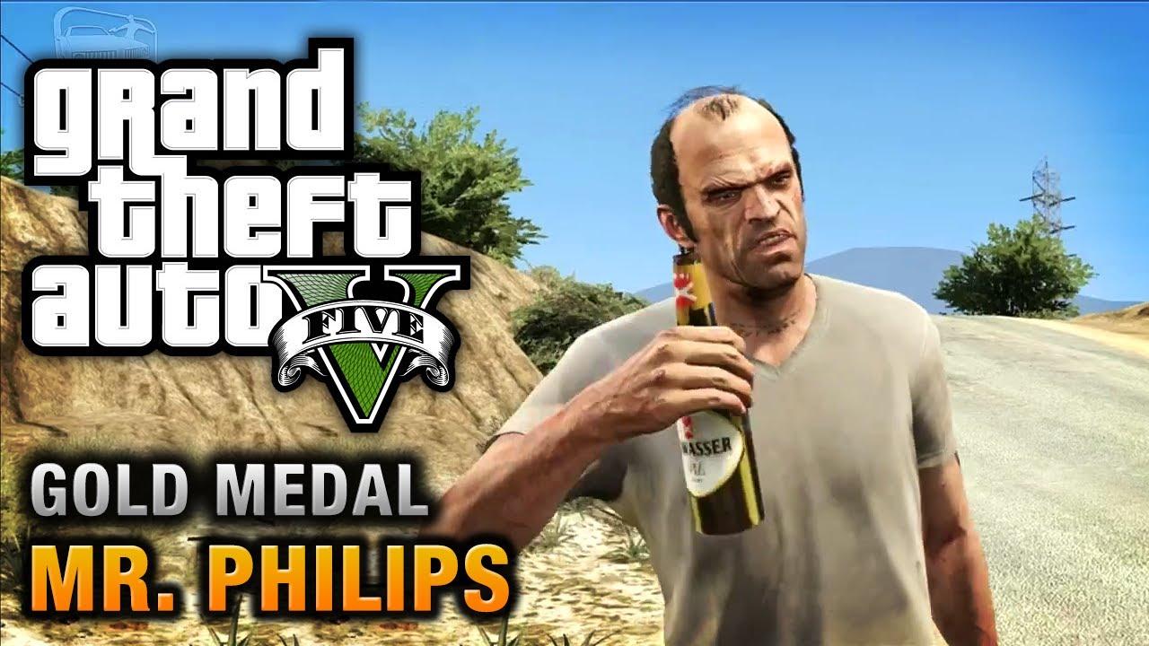 Gta  Mr Philips  Gold Medal Walkthrough Youtube