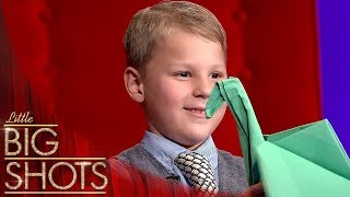 How To Make Origami With Augustin | Little Big Shots