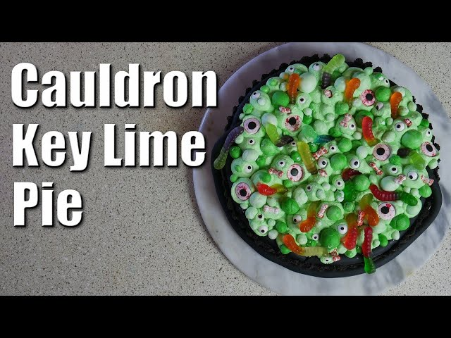 Spooky Cauldron Key Lime Pie | Baking With ChefJohnReed | Halloween