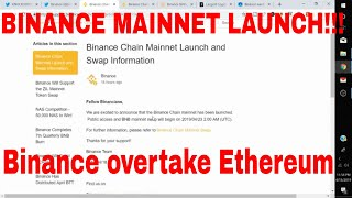 Binance Chain Mainnet Launch Binance Chain Technology Better than Ethereum