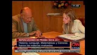 CNN Repercusiones Prueba Inicia - Vocería Rector Dr. Ernesto Schiefelbein Fuenzalida