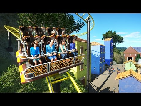Planet Coaster Gameplay - Mediterranean Village Plaza and Coaster! - Let's Play Part 3