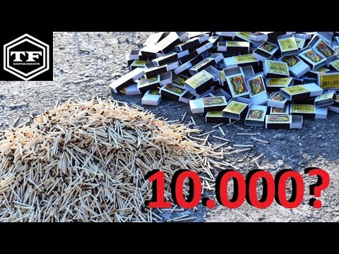 Thumbnail: EXPERIMENT 275 - PALIMO ODJEDNOM 10.000 SIBICA | 10.000 MATCHES