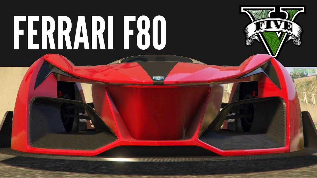 Grotti X80 Proto Ferrari F80 Race Concept Build [GTAV PS4]