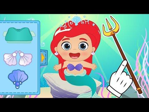 BEBÉ LILY Lily se transforma de La Sirenita Ariel | Dibujos animados educativos