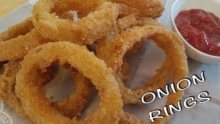 Onion rings recipe, extremely crunchy onion rings recipe