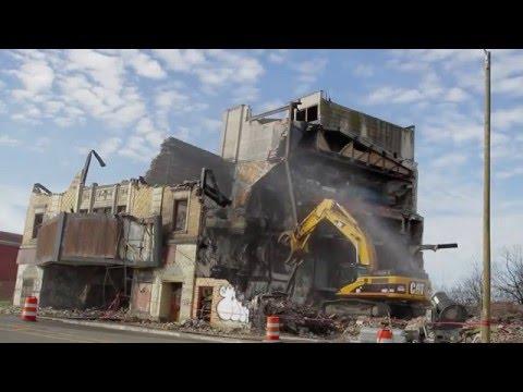 Eastown Theatre is demolished in Detroit.