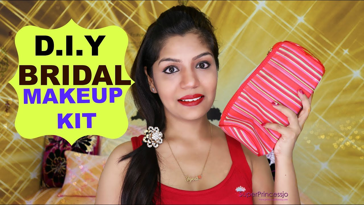 Making Your Own Wedding Makeup : How To Make Bridal Makeup Kit SuperPrincessjo - YouTube