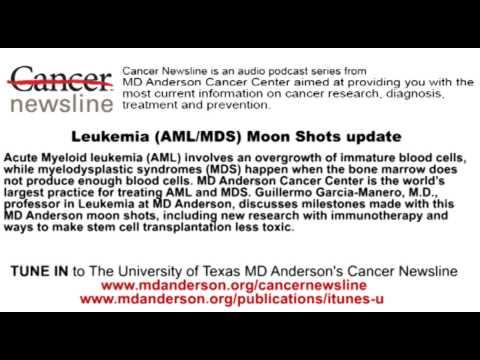 Leukemia AML MDS Moon Shots update