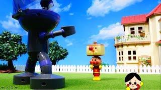 アンパンマンとカステラ吹き戻しおもちゃアニメ❤ Anpanman castella blowing toy anime❤