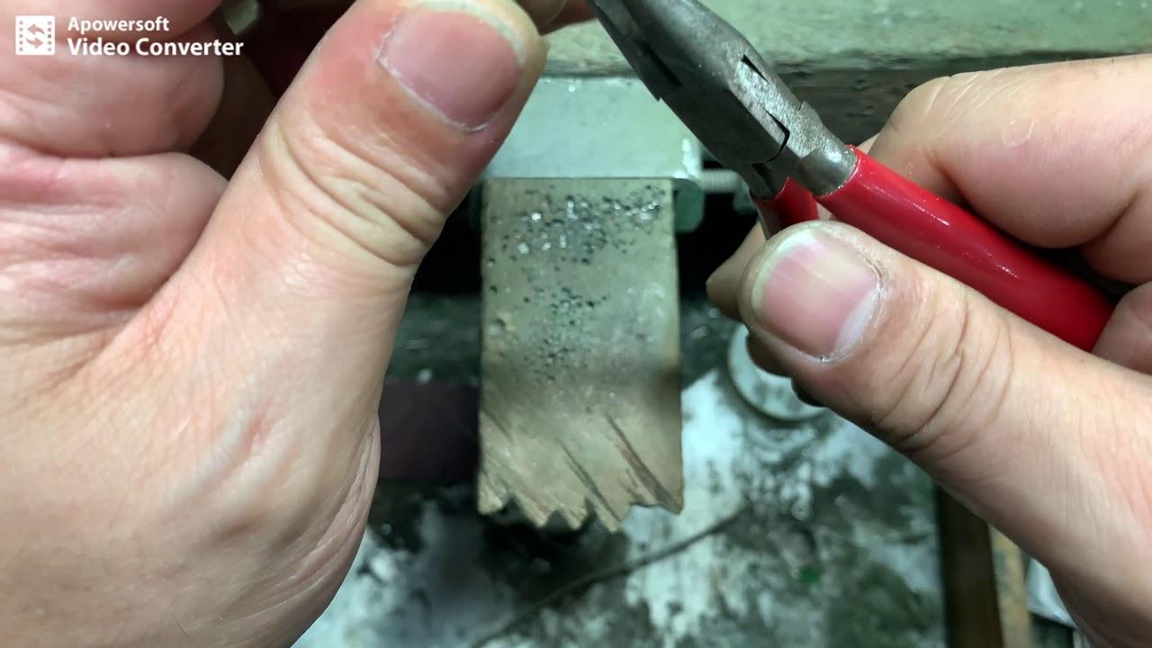 金工半圓形緞帶格紋戒指 - YouTube