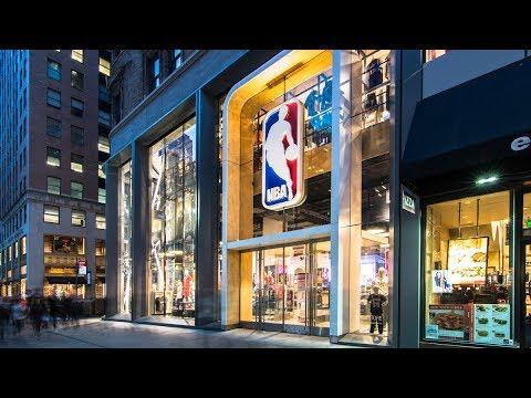 fa351624101 New Look NBA Store NYC w/ Nike 2017-18 Gear! - YouTube