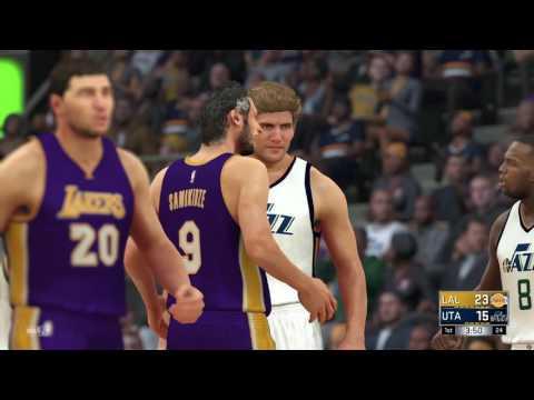 D'Lakers Episode 2 vs. Jazz in Salt Lake City - NBA 2K17 MyLeague