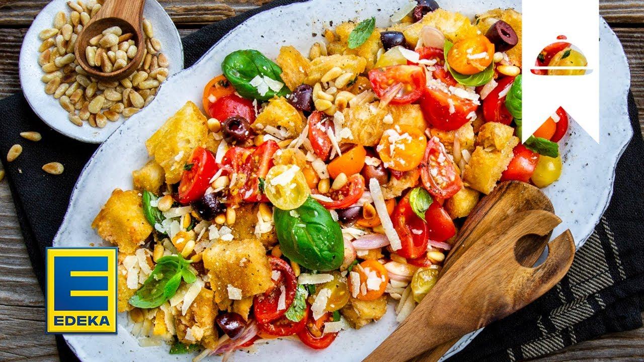 Brotsalat Rezept I Panzanella Mit Tomaten Und Selbstgemachtem Ciabatta I Edeka Youtube