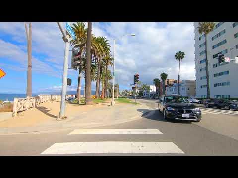 Santa Monica Palisades Park Walking Tour| 4k DJI Mobile | No Music