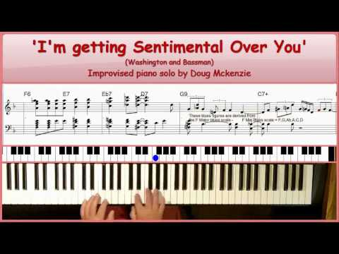 'I'm Getting Sentimental Over You' - jazz piano tutorial
