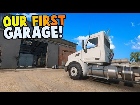 ATS - OUR FIRST GARAGE & TRANSPORTING 30 THOUSAND LB OF CHEESE! - American Truck Simulator Gameplay