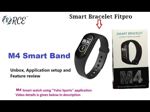 M4 Smart Band - Unboxing, Setup Date/Time, First Time Setup And Feature Review