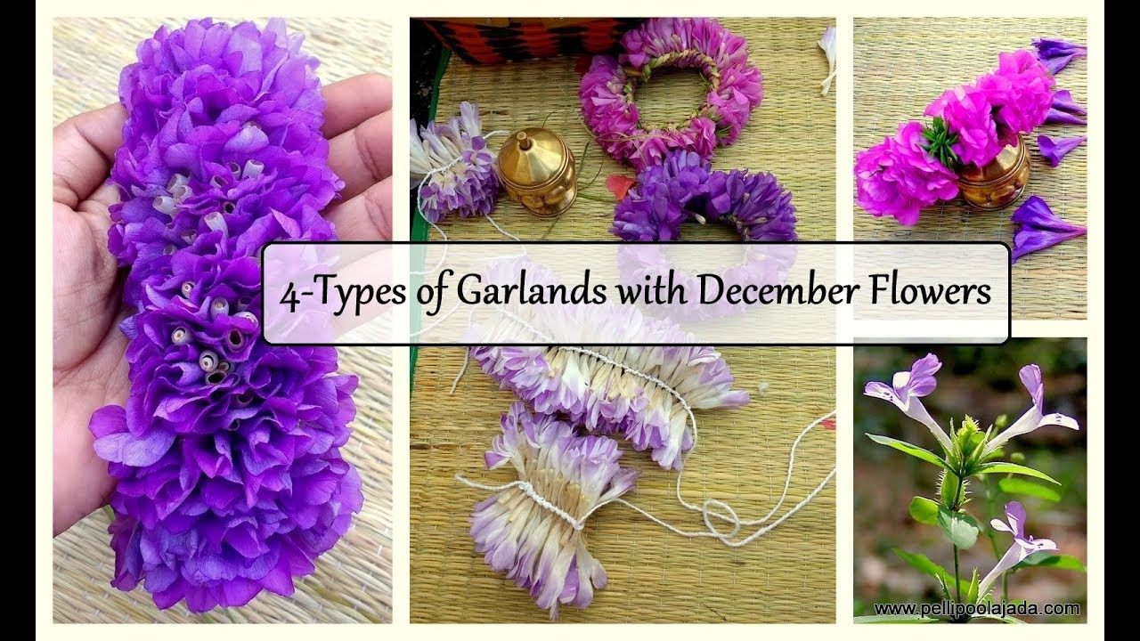 4 Types Of Flower Strings With December Flowers Youtube