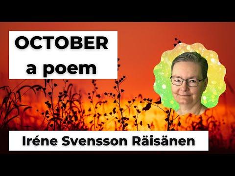 OCTOBER is a poem by the Swedish poet Iréne Svensson Räisänen #shorts