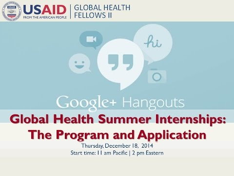 Global Health Summer Internships: The program and application