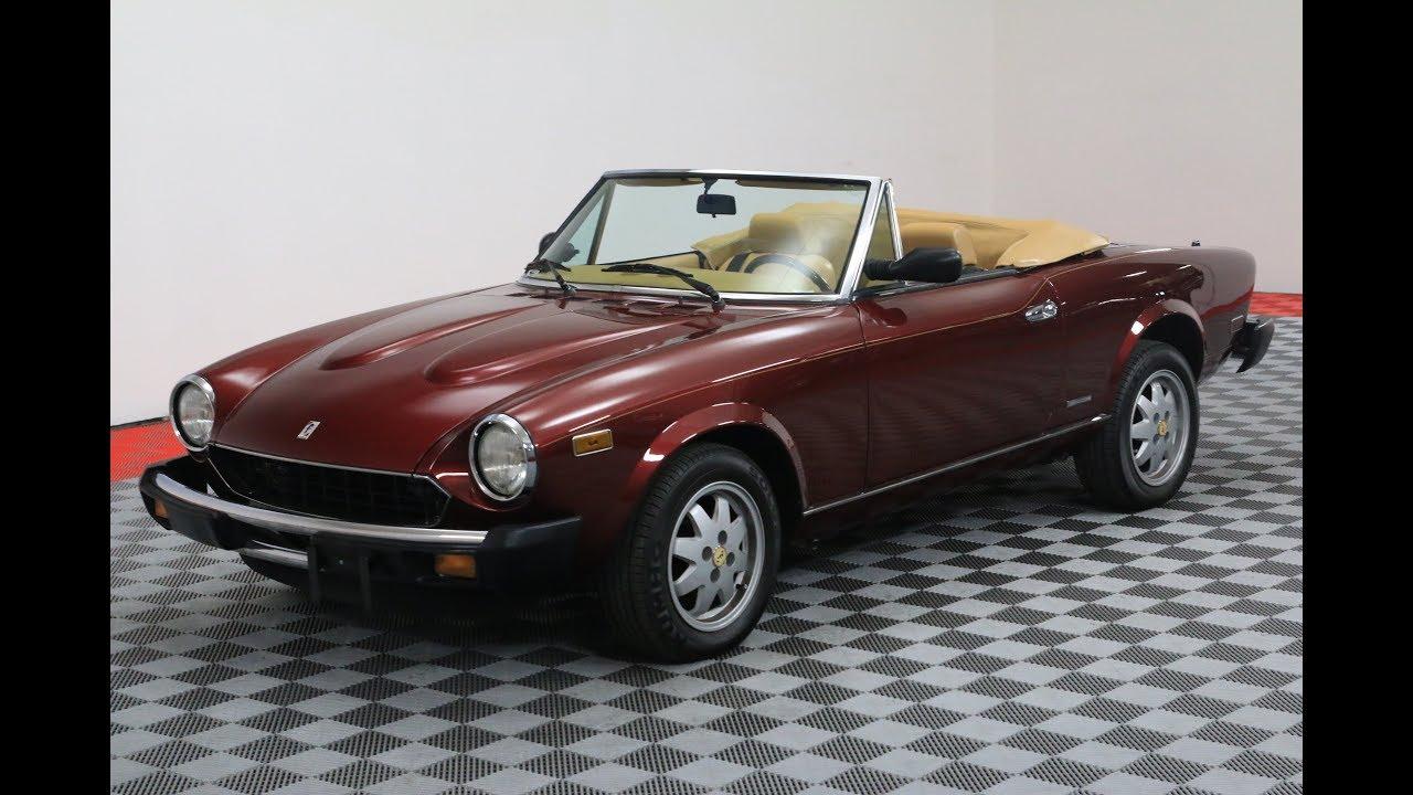 1985 Fiat Spyder Convertible 1970 124 Spider