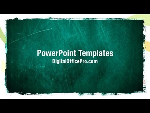 Chalkboard PowerPoint Template Backgrounds DigitalOfficePro