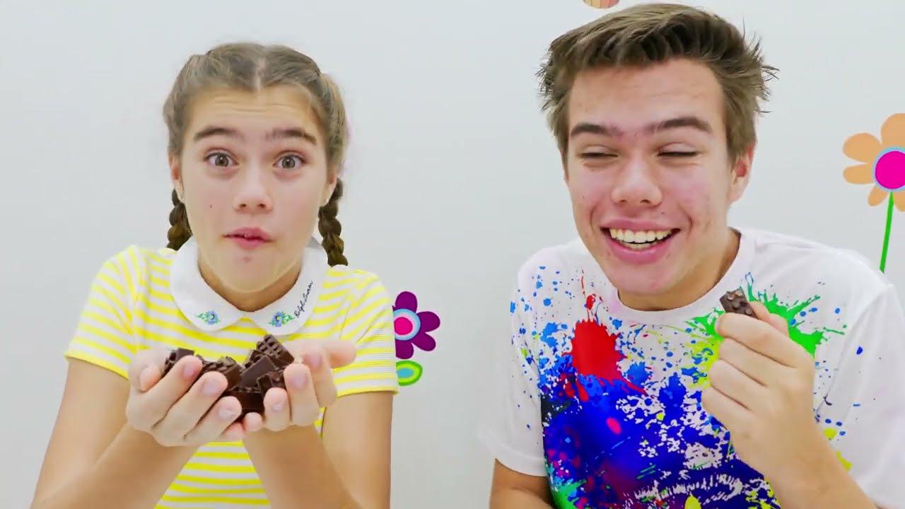 Nastya y Artem una historia para niños sobre dulces y caramelos dañinos