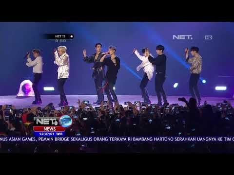 Ikon & Suju Bawakan Lagu Hitsnya Di Closing Ceremony Asian Games 2018-NET12