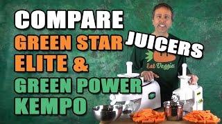 Comparison Green Star Elite vs Green Power Kempo Juicer