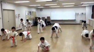 補強運動の一例です。 極真空手 旗の台教室 http://www.kyokushin-sakam...
