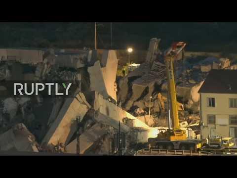 LIVE from Genoa following motorway bridge collapse