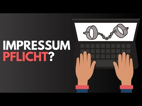 WER BRAUCHT EIN IMPRESSUM? ⚖️ Anleitung Für Blog, YouTube, Facebook & Co | Impressumspflicht