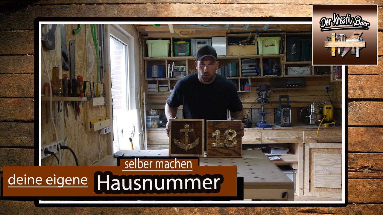 Hausnummer Selber Machen ✅ diy | deutsch | mach dir deine hausnummer selbst |selbermachen