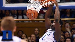 Duke's Zion Williamson Scores 32 on Wolfpack