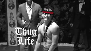 Thug Life - MMA fighter kisses ring girl