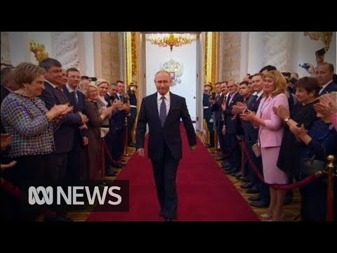 Vladimir Putin's long, long, long walk to his inauguration
