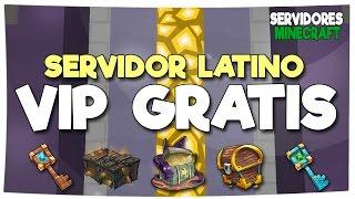 SERVIDOR LATINO CON RANGO VIP GRATIS NO PREMIUM | Cambio de Skin, SkyWars, Advance PvP, The Towers,