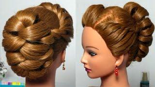 Прическа с плетением на длинные и средние волосы