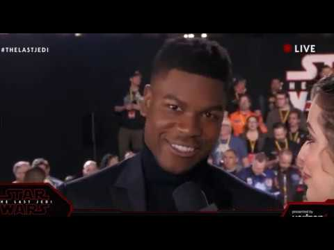 John Boyega Finn interview - Star Wars The Last Jedi Red Carpet World Premiere