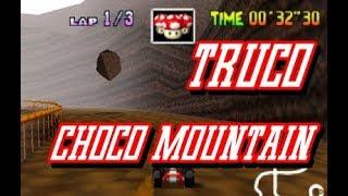 rebotando piedra en Choco Mountain de Mario Kart 64