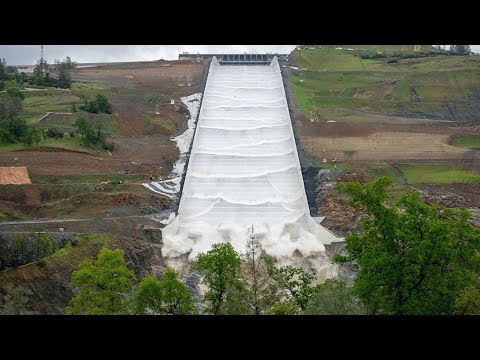 Oroville Dam Spillway Used For First Time Since 2017
