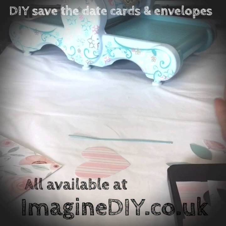 how to make diy wedding save the date invitation card youtube