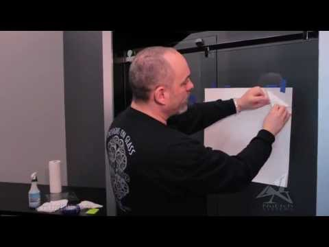 DIY How To Apply Faux Glass Etching