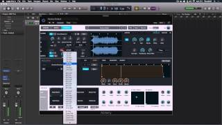 How to create sound design from samples using Alchemy in Logic Pro X 10.2.0.