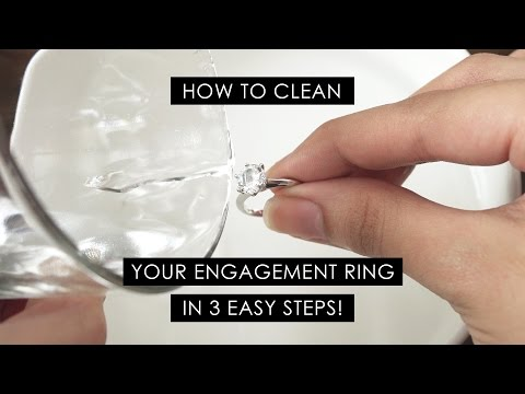 How To Clean Your Engagement Ring in 3 Simple Steps!
