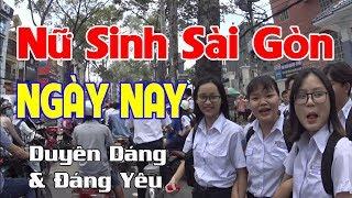 Nữ Sinh Sài Gòn lúc tan học - Nhớ quá Sài Gòn ơi - Saigon 11h30 AM date 12/9/2017