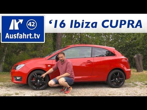 2016 SEAT Ibiza Cupra - Fahrbericht der Probefahrt, Test, Review Ausfahrt.tv